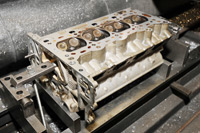 Cylinder Head on Workbench